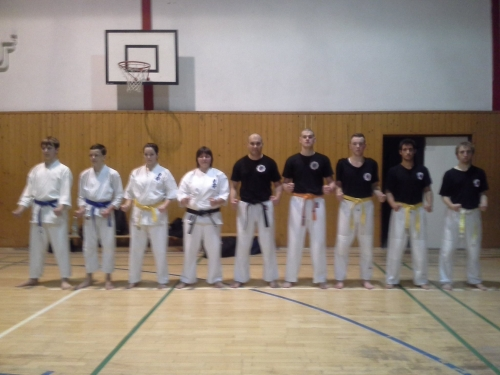 Common training with Kyokushin Karate club Zemné
